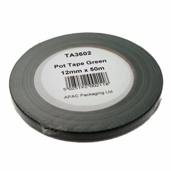 Pot Tape Green 12mm x 50m #TA3602/6015