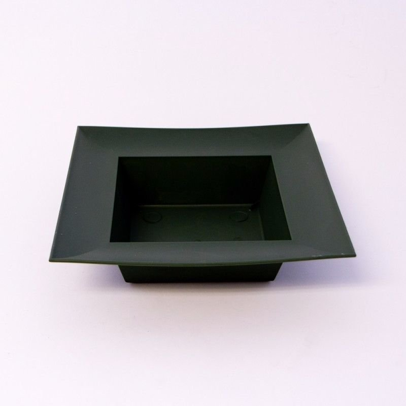 Designer Bowl - Square - Dark Green x 1 #4460
