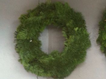 "13-14"" Approx - Fresh Noble Fir Wreath - Made on a 12"" Straw Ring **PRE-ORDER NOW**"