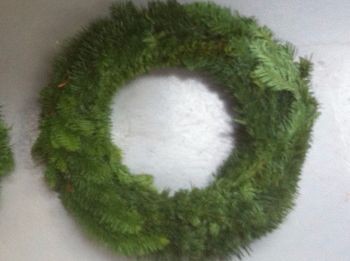 "15-16"" Approx - Fresh Noble Fir Wreath - Made on a 14"" Straw Ring **PRE-ORDER NOW**"