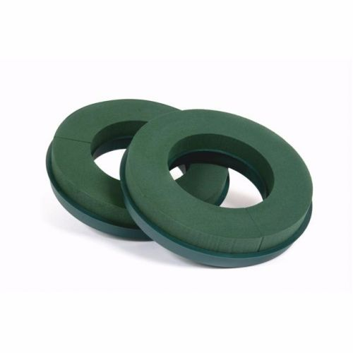 "16"" Val Spicer Wet Foam Rings - Plastic Backed - Pack of 2 #1154"