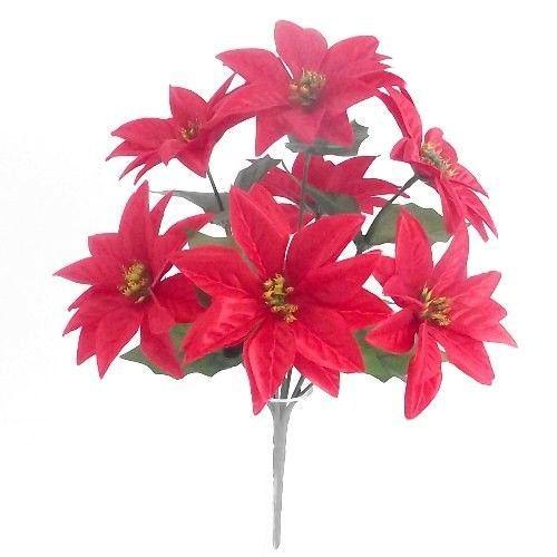 Poinsettia Bush - 7 Heads - Red #813715