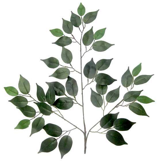 Artificial Ficus Leaf - 60cm Approx - Plain green - 12 stems #SF8054/1946