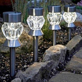 Crystal Stake Light - Solar Powered x 1 #1011541