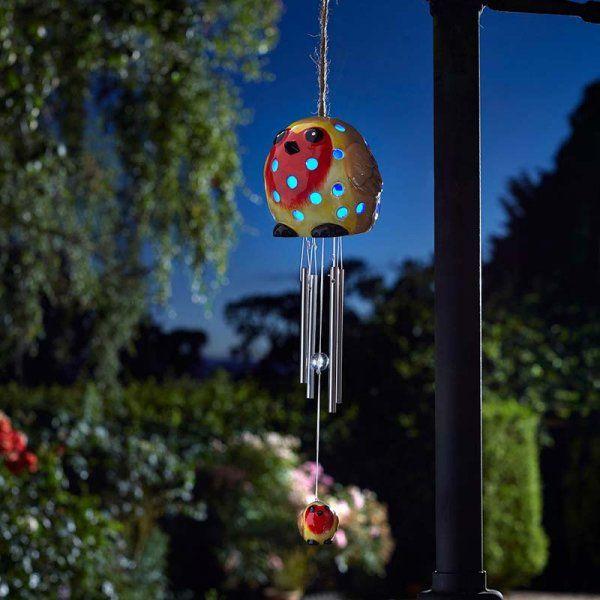 Ceramic Robin Windchime - Solar Powered x 1 #1090154
