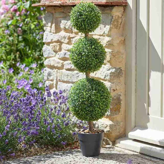 Faux Topiary Trees & Grasses