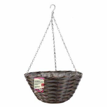 """Pinto  Faux Rattan Basket - 14"""" x 1 #6020044"""