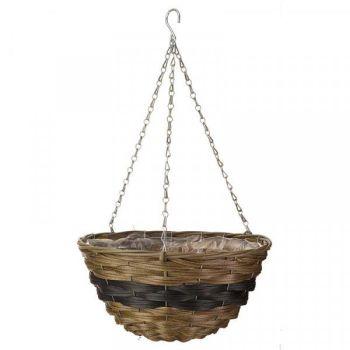 "Firenze Faux Rattan Basket - 14"" x 1 #6021015"