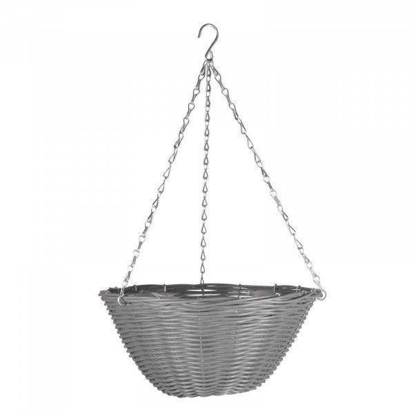 Slate Faux Rattan Basket - 14