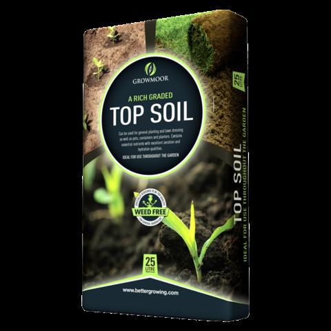Top Soil - Rich Graded - 25ltr #Growmoor Better Growing