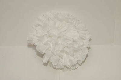 Silk carnation head white bag of 48