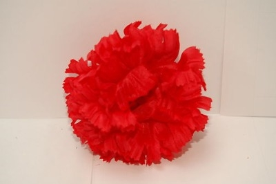 Silk carnation head red bag of 48