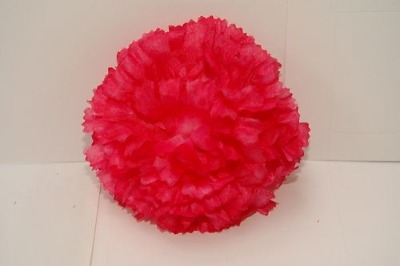 Silk carnation head pink bag of 48