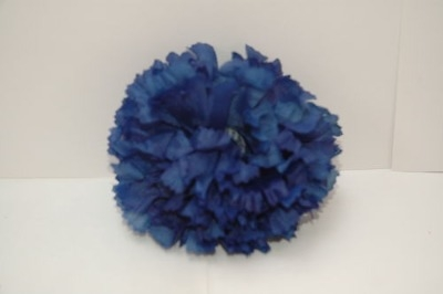 Silk carnation head royal blue bag of 48