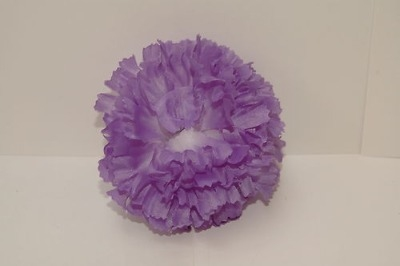 Silk carnation head dark mauve bag of 48