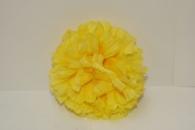 Silk carnation head yellow bag of 48