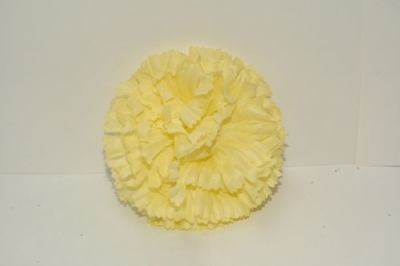 Silk carnation head lemon bag of 48