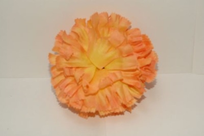 Silk carnation head tea peach bag of 48
