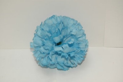 Silk carnation head baby blue bag of 48