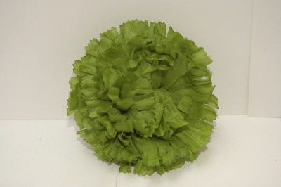Silk carnation head green bag of 48