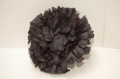 Silk carnation head black bag of 48