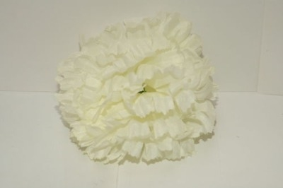 Silk carnation head cream bag of 48