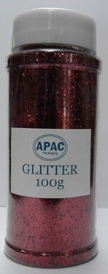 Floral Glitter 100g Red #30