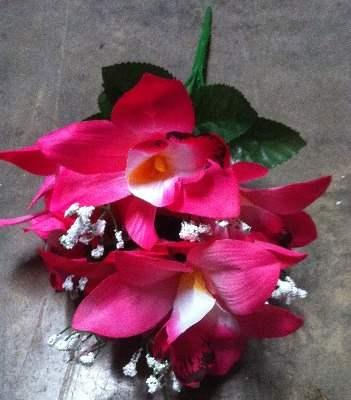 37cm Orchid gyp bush 8 heads pink 37cm 475ks (118)
