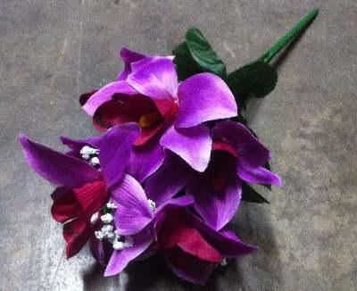 37cm Orchid gyp bush 8 heads purple 37cm 475ks (118)