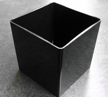 "Black Acrylic Dish 6"" Cube (15x15cm)"