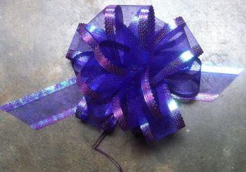 Organza Pull Bow (Purple) 50mm x1
