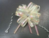 Organza Pull Bow (Ivory) 50mm