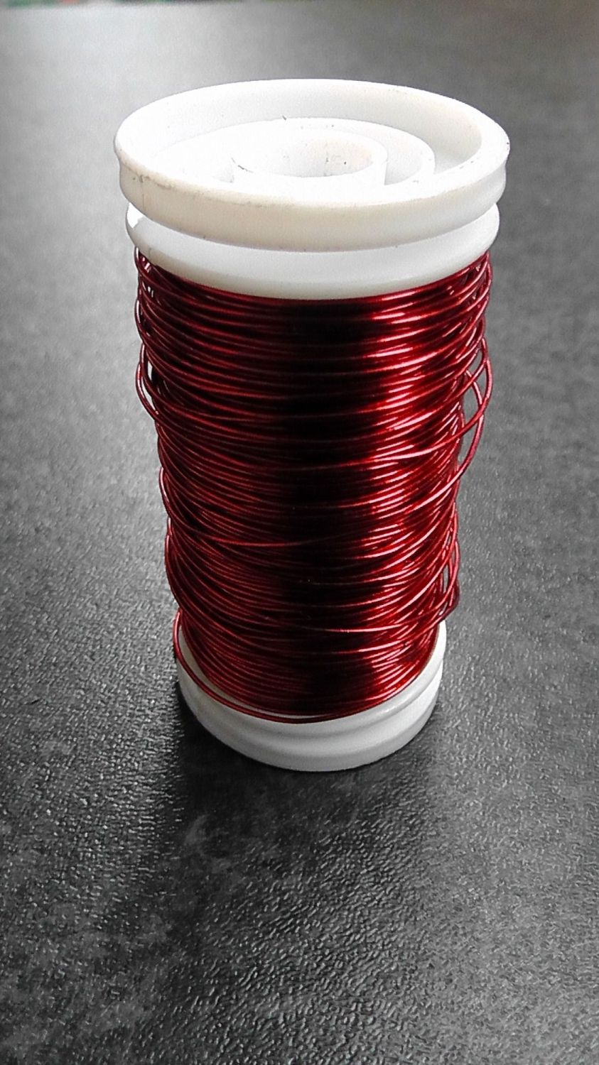 Metallic Reel Wire 100g Red