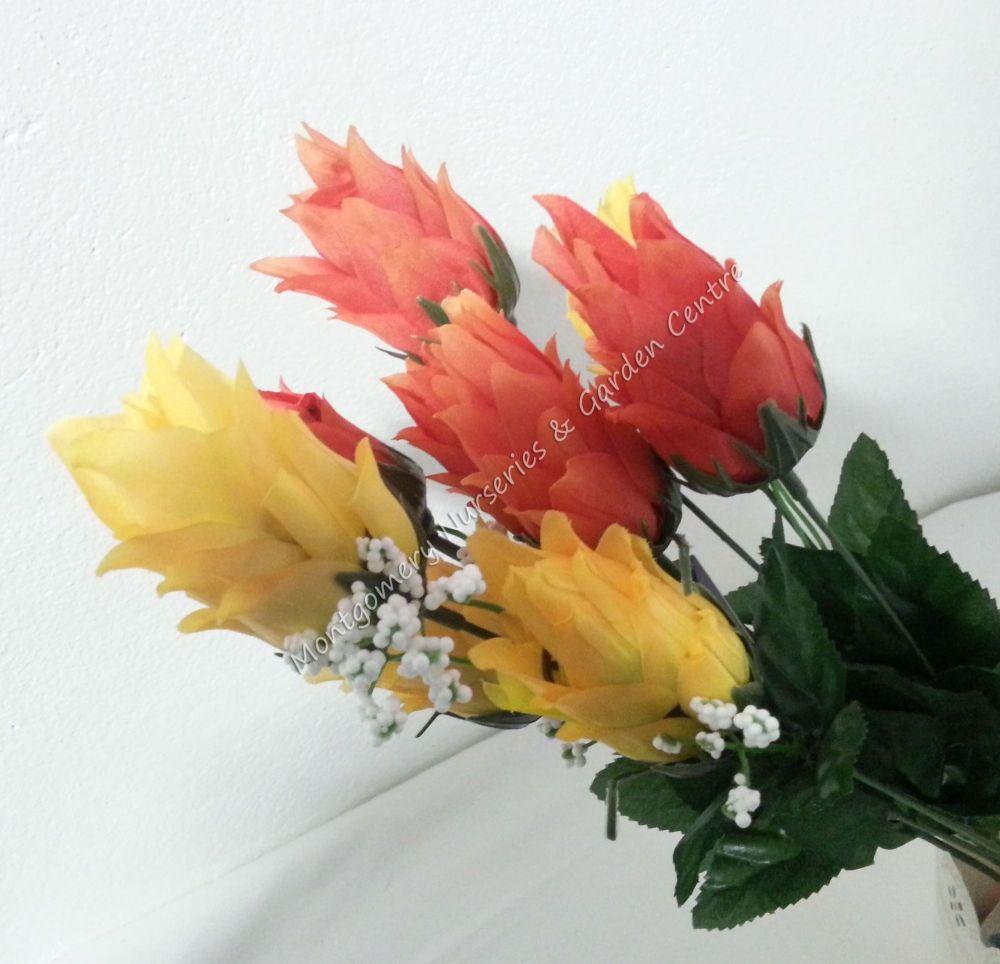 46cm Hops foxtail 9 head FB269SY #22693 Orange Yellow