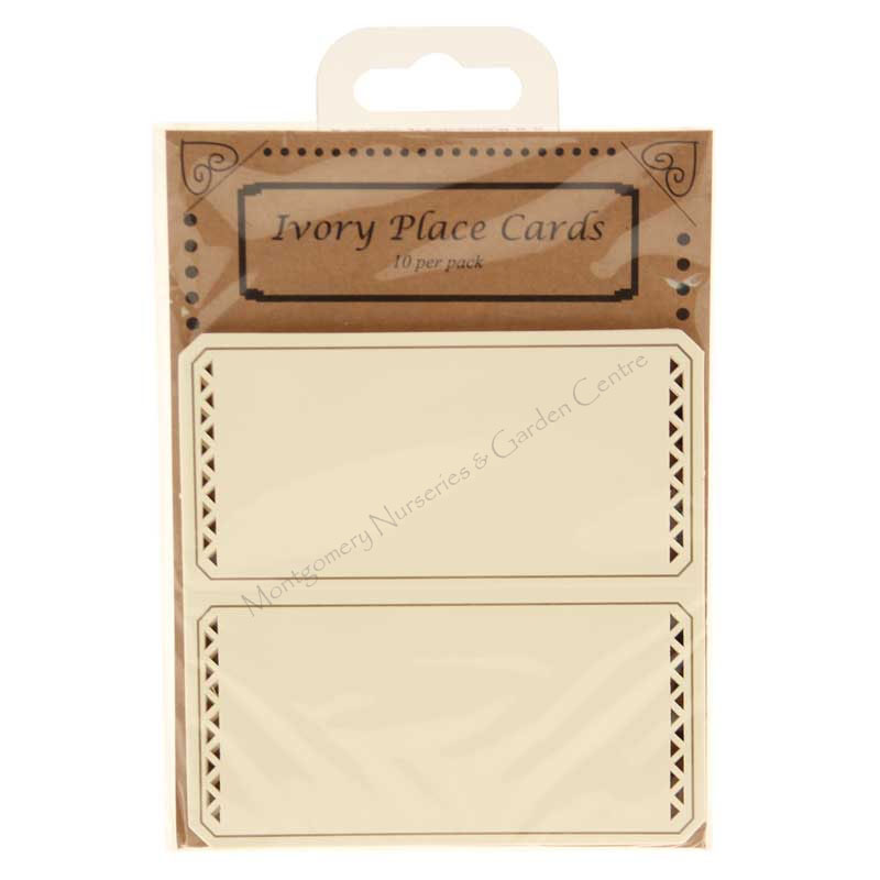 Ivory Place Cards with Cut Edge (x10) #pc1035