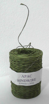 Bindwire Green 0.4mm x 205m #WR6006