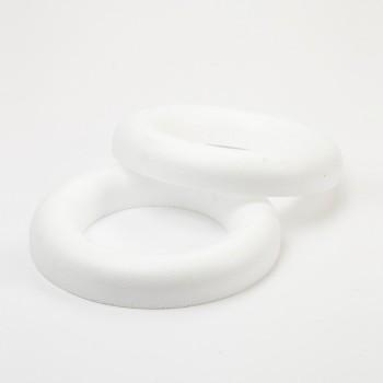Styropor Half Ring - 25cm - White #27-08007