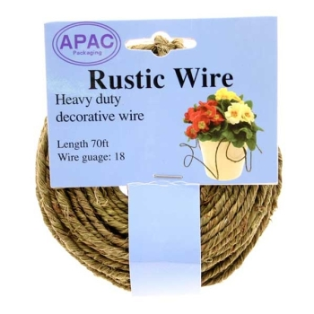 Green Rustic Wire 18guage 1.2mm x 21metre