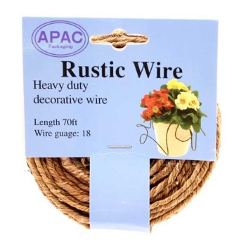 Natural Rustic Wire 18guage 1.2mm x 21metre
