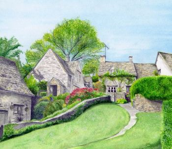 Bibury, Cotswolds greetings card