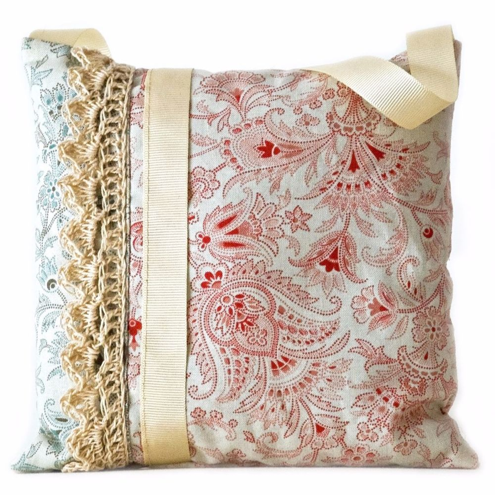 Shabby chic style lavender bag