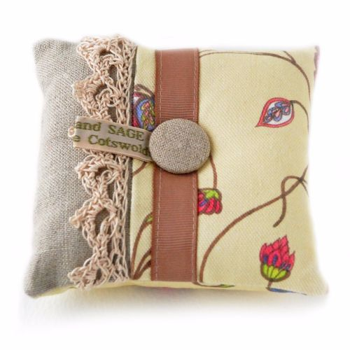 Pin cushion in A&C floral design
