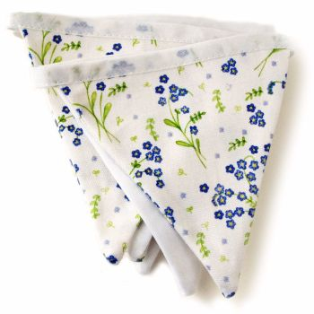 Forget-Me-Not design bunting