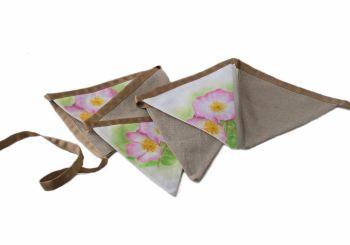 Wild rose design bunting