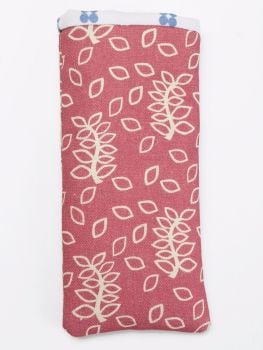 Mobile phone cover in dusky leaves design