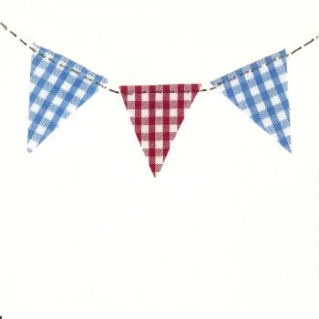 Bunting greetings card