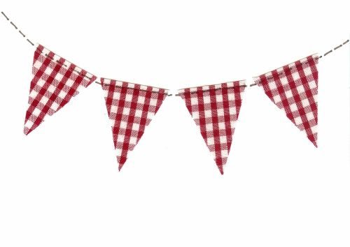 Bunting greetings card - 4 flags