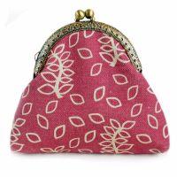 Dusky rose leaves clasp purse