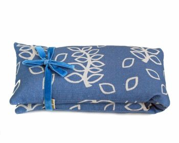 Wheat and lavender heat bag in blue leaves design