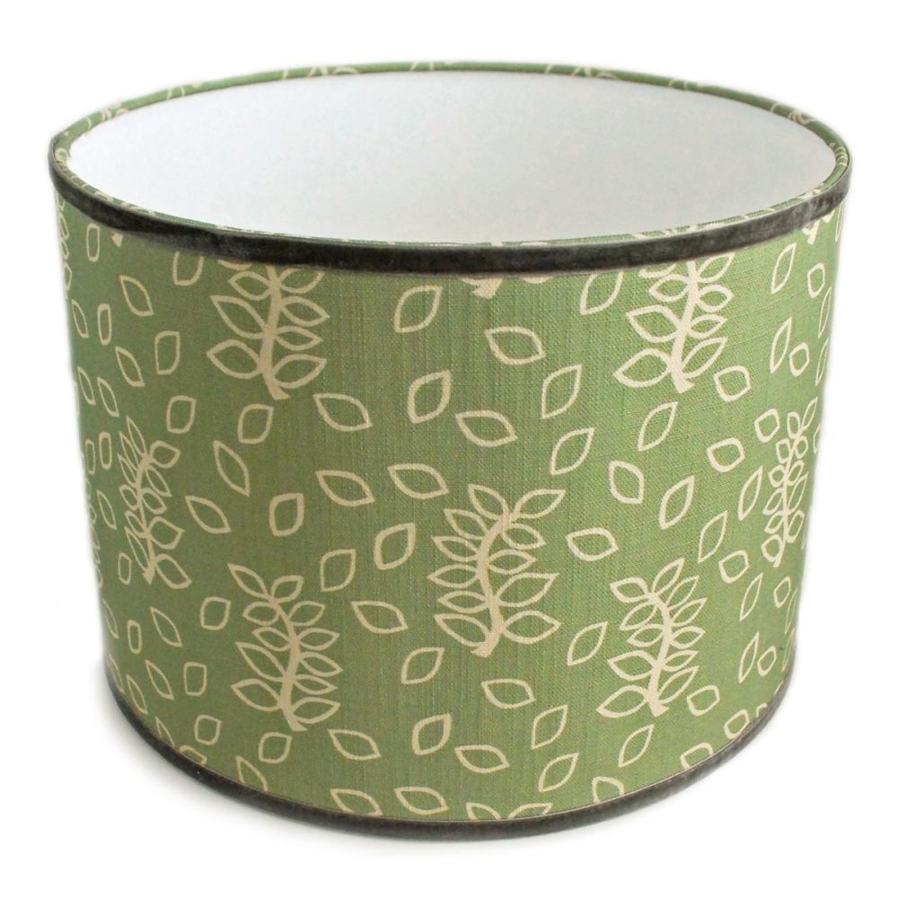 Green leaves lampshade